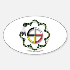Four Directions Symbol Oval Decal
