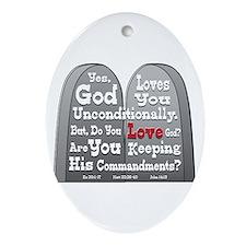 Commandments Ornament (Oval)