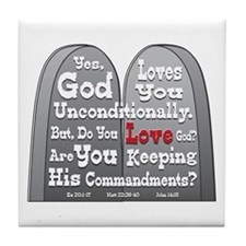 Commandments Tile Coaster