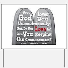 Commandments Yard Sign