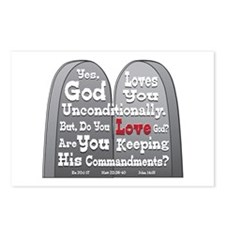 Commandments Postcards (Package of 8)