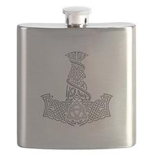 Mjolnir Silver Flask