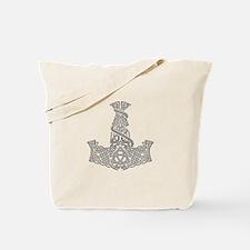 Mjolnir Silver Tote Bag