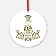 Mjolnir Gold Ornament (Round)