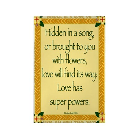 Love has super powers. Rectangle Magnet (10 pack)