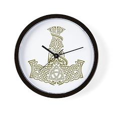 Mjolnir Gold Wall Clock