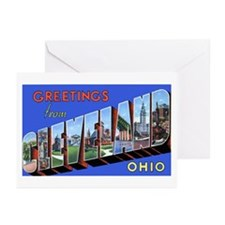 Cleveland Ohio Greetings Greeting Cards (Package o