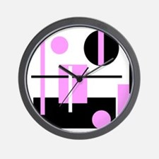 Fashionable pink black and white abstract square W