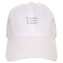 Most smiles are started by an Baseball Cap