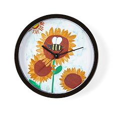 Cameron's Sunflowers Wall Clock
