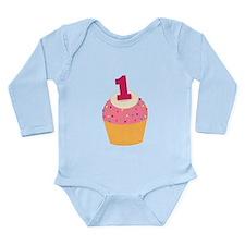 1st Birthday Cupcake Onesie Romper Suit