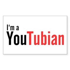 I'm A YouTubian Rectangle Decal