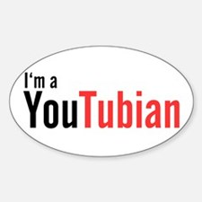 I'm A YouTubian Oval Decal