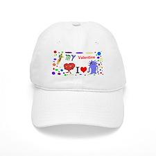 Bee My Valentine Baseball Cap