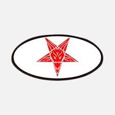 Baphomet Pentagram Red Patches