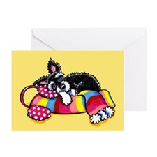 Warm Schnauzer Yellow Greeting Cards (Pk of 20)