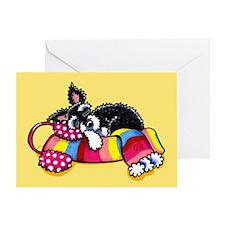 Warm Schnauzer Yellow Greeting Card
