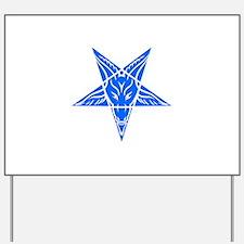 Baphomet Pentagram Blue Yard Sign