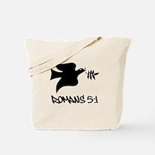 Romans 5:1 Tote Bag