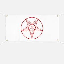 Baphomet Pentagram Lines Banner