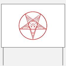 Baphomet Pentagram Lines Yard Sign