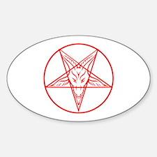 Baphomet Pentagram Lines Decal
