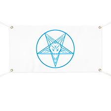 Baphomet Pentagran Lines Banner