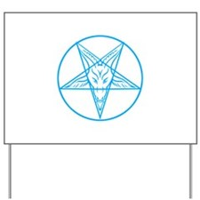 Baphomet Pentagran Lines Yard Sign