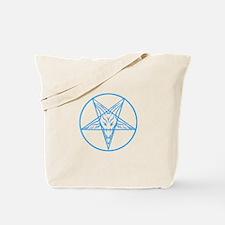 Baphomet Pentagran Lines Tote Bag
