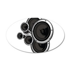 Speaker Wall 20x12 Oval Wall Decal