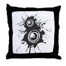 Speaker Splatter DJ Throw Pillow