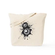 Speaker Splatter DJ Tote Bag
