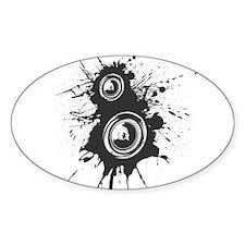 Speaker Splatter DJ Decal