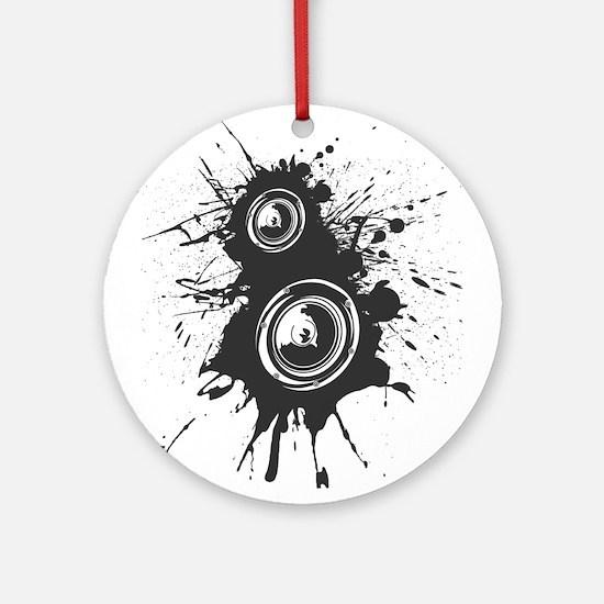 Speaker Splatter DJ Ornament (Round)