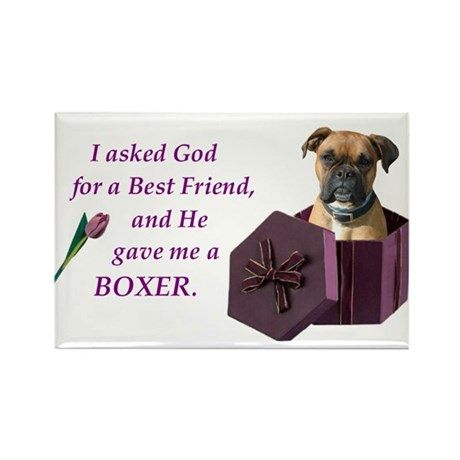 Boxer Rectangle Magnet (10 pack)