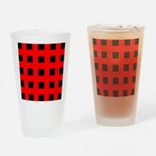 Emo Red Crosses Drinking Glass