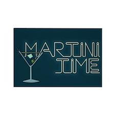 Martini Time Retro Lounge Rectangle Magnet