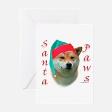 Santa Paws Shiba Inu Greeting Cards (Pk of 10)
