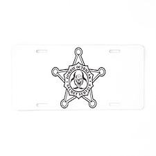 Cute Secret service Aluminum License Plate