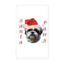 Santa Paws Shih Tzu Rectangle Decal