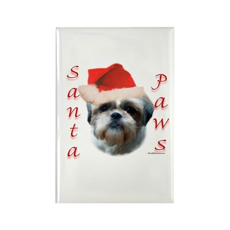 Santa Paws Shih Tzu Rectangle Magnet