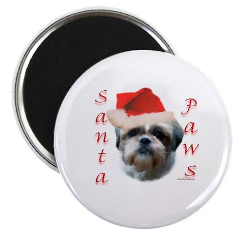 Santa Paws Shih Tzu Magnet