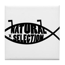 Natural Selection Dead Fish Tile Coaster