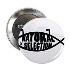 """Natural Selection Dead Fish 2.25"""" Button"""