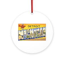 Detroit Michigan Ornament (Round)