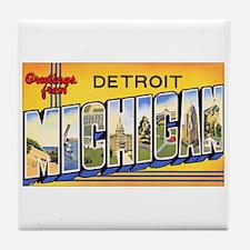 Detroit Michigan Tile Coaster