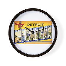 Detroit Michigan Wall Clock