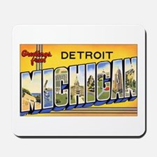 Detroit Michigan Mousepad