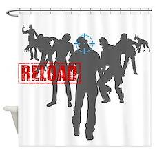 Kill The Zombies Shower Curtain