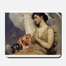 Angel With Dachshund Dogs Mousepad
